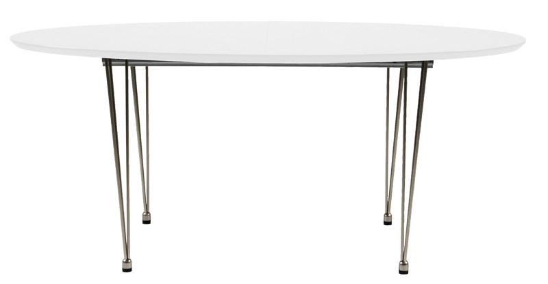 N/A – Susan spisebord - hvid - 170x100 m krom ben på unoliving.com