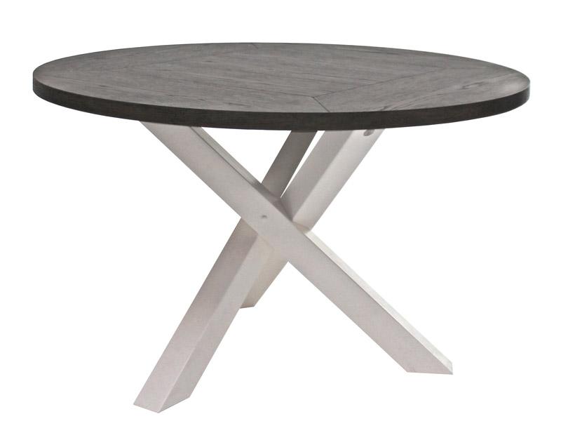 Canett Canett hamptons spisebord eg finér - hvid - ø150 på unoliving.com