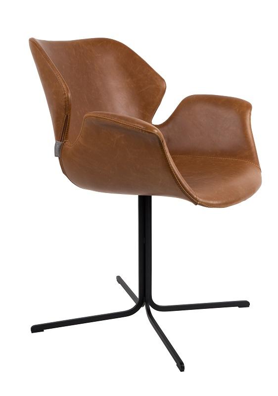 Zuiver - nikki spisebordsstol - brun pu læder fra Zuiver fra unoliving.com