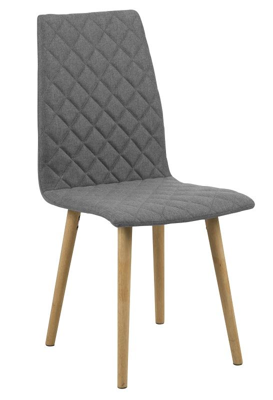 Gaia spisebordsstol - grå harlekin polstring fra N/A på unoliving.com