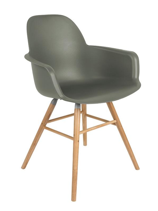 Zuiver Zuiver - albert kuip spisebordsstol armlæn - grøn fra unoliving.com
