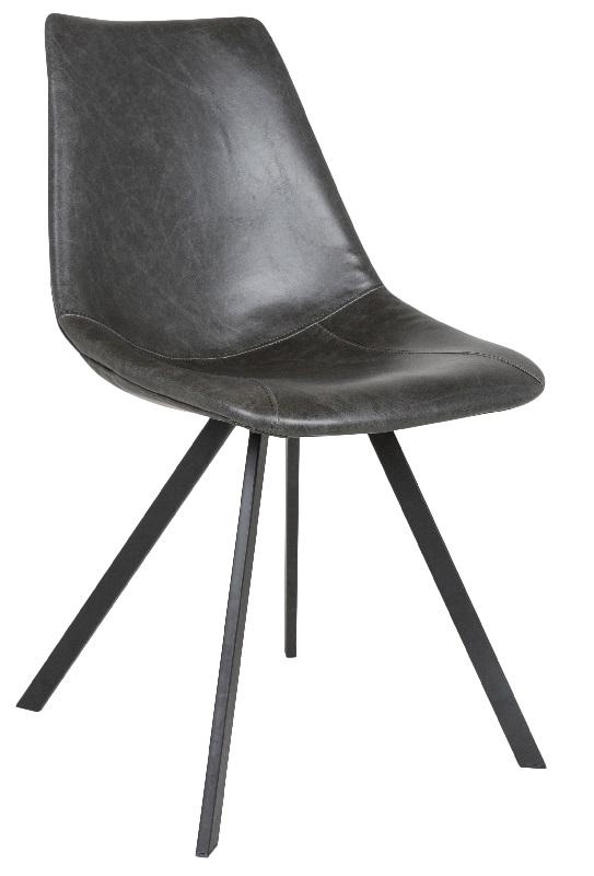 Canett Canett kentucky spisebordsstol - sort pu læder fra unoliving.com