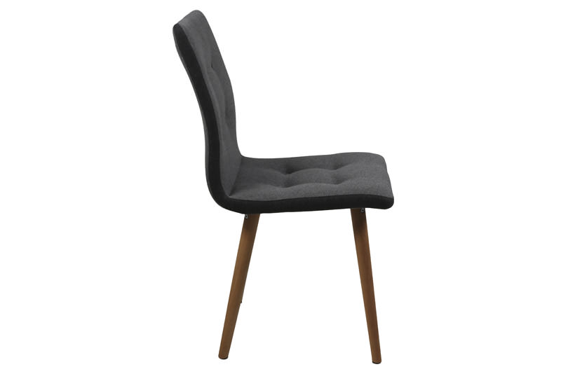 N/A Sue spisebordsstol - lys grå med mørk grå kant på unoliving.com