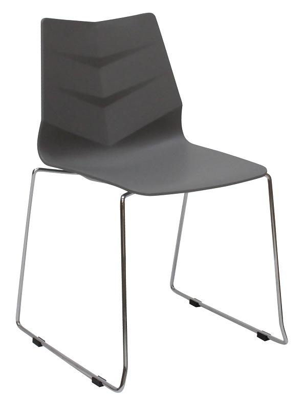 Canett ray spisebordsstol - grå plastik fra Canett fra unoliving.com