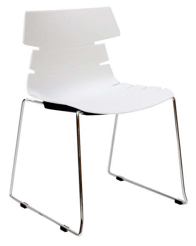 Canett idaho spisebordsstol - mat hvid plastik fra Canett fra unoliving.com