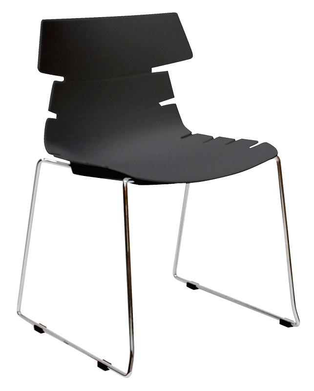 Canett – Canett idaho spisebordsstol - mat sort plastik fra unoliving.com