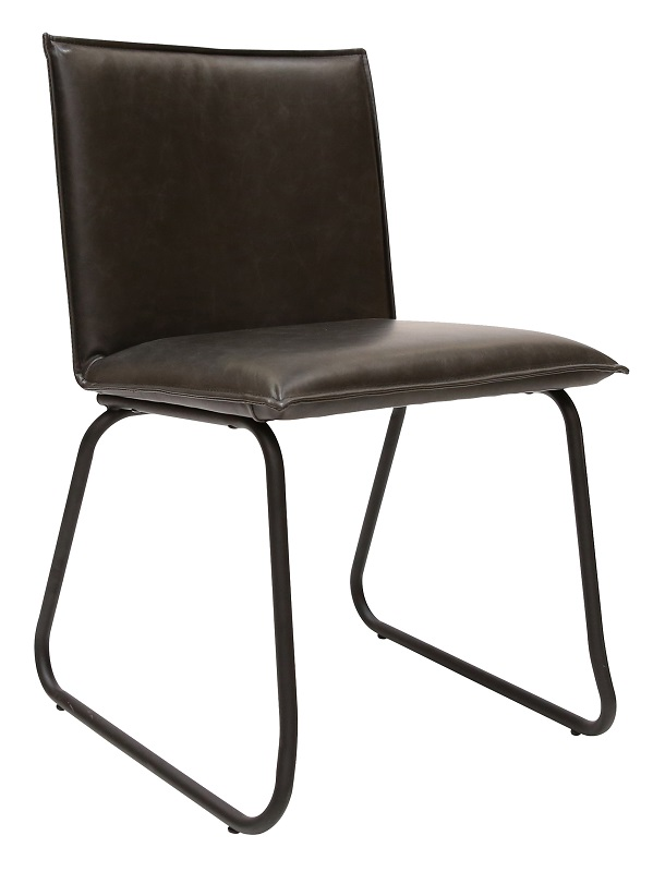 Canett fora spisebordsstol - sort pu og mat sorte ben fra Canett fra unoliving.com