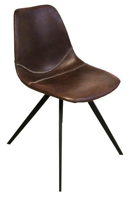 Canett kida spisebordsstol - brun microfiber fra Canett fra unoliving.com