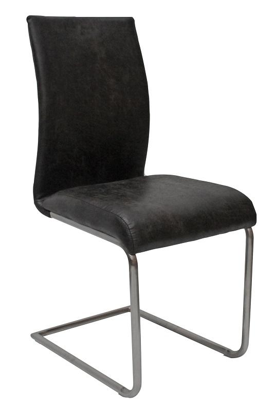 Canett Canett clapper spisebordsstol m. slæde ben - sort fra unoliving.com
