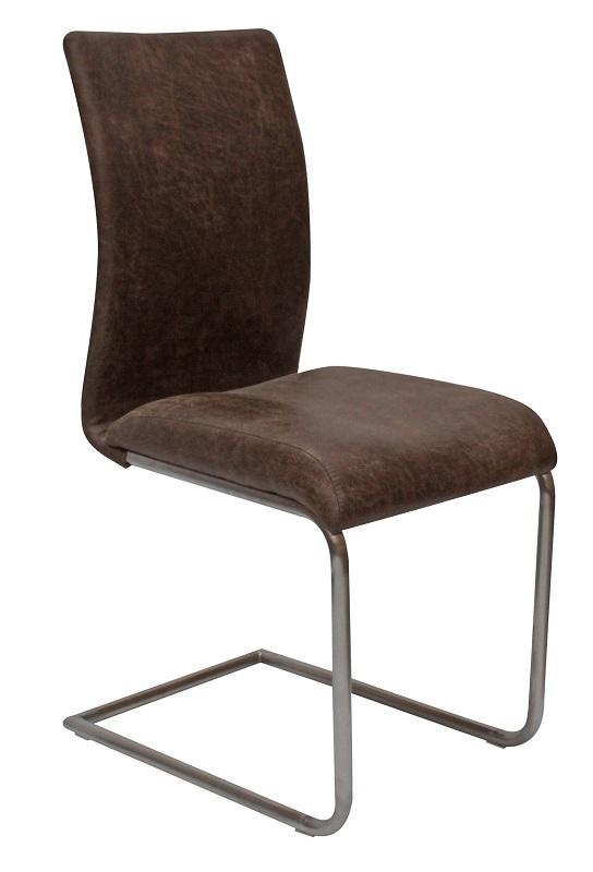 Canett – Canett clapper spisebordsstol m. slæde ben - brun på unoliving.com