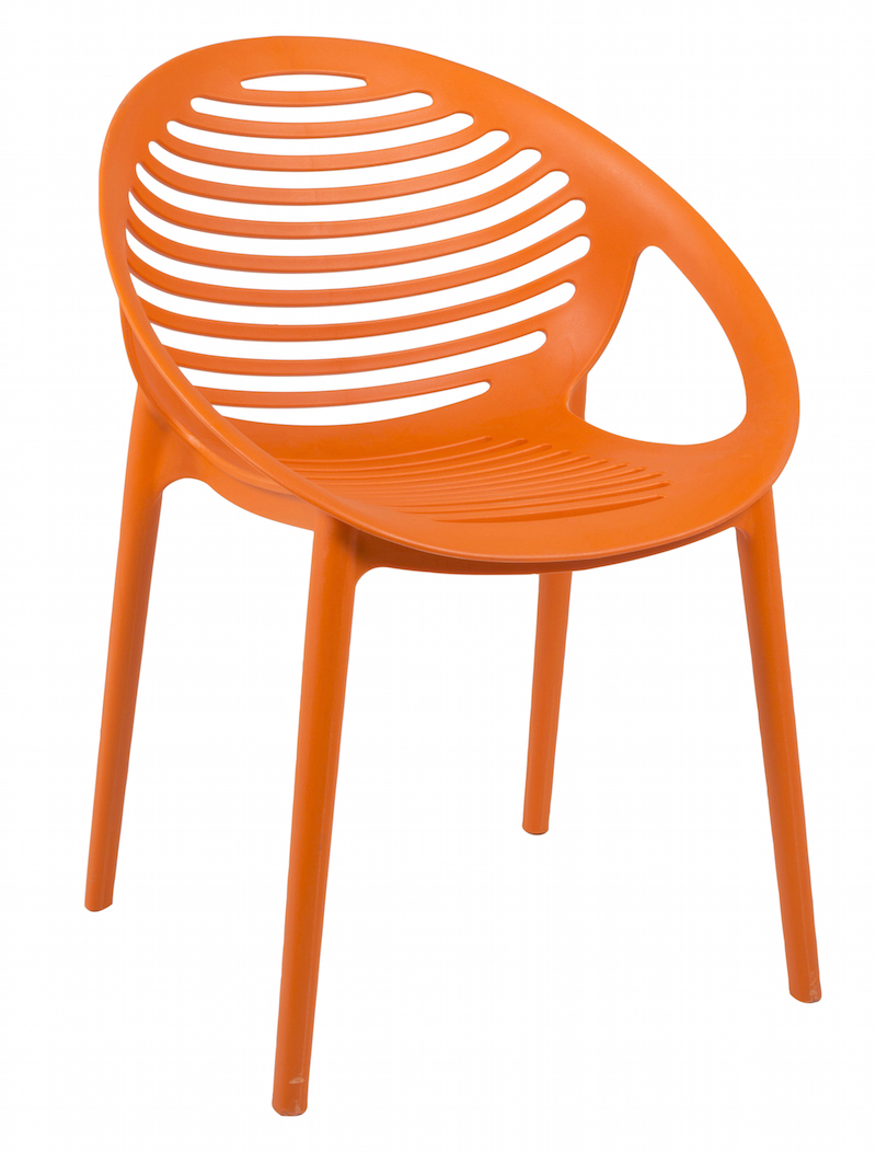 Elements spisebordsstol - orange pp fra Canett på unoliving.com