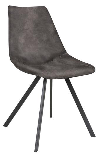 Canett – Zobel spisebordsstol - mørkegrå polyester på unoliving.com