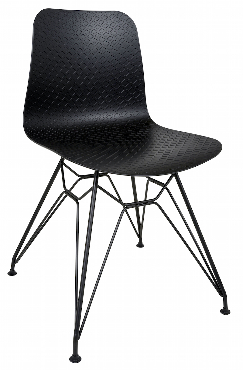Canett – Paris spisebordsstol - sort pp sæde på unoliving.com