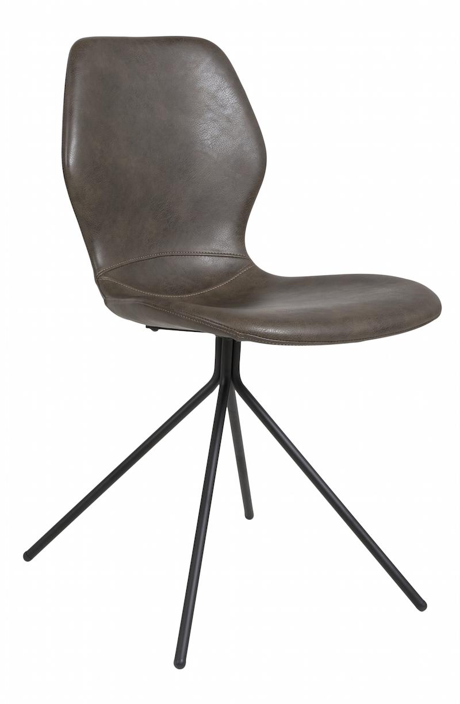 Tristian spisebordsstol - brun pu fra Canett på unoliving.com