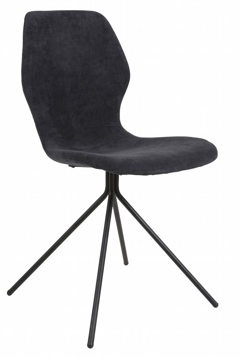Canett – Tristian spisebordsstol - mørkeblå på unoliving.com