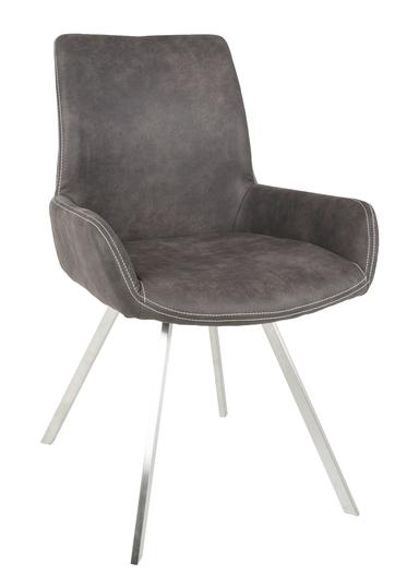 Canett – Casanova spisebordsstol - grå mikrofiber på unoliving.com