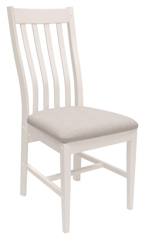 Hamptons  spisebordsstol - hvid m. beige stof fra Canett på unoliving.com