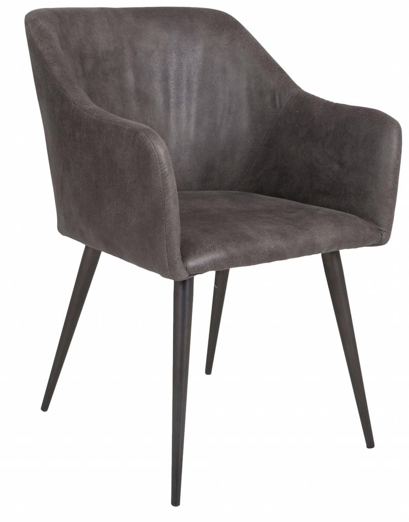 Canett – Miranda spisebordsstol m/armlæn - vintage grå fra unoliving.com