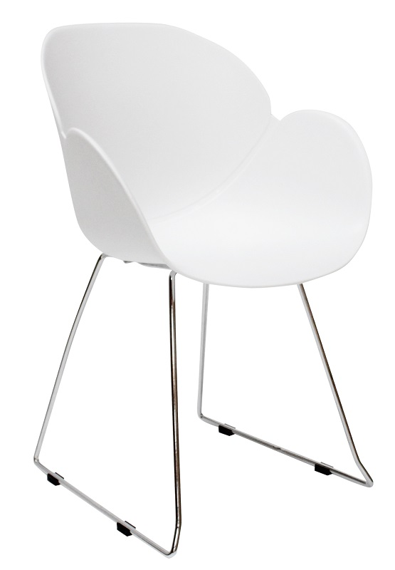 Canett twist spisebordsstol - hvid plast fra Canett på unoliving.com