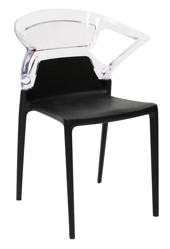 Canett affair spisebordsstol - sort og akryl fra Canett på unoliving.com
