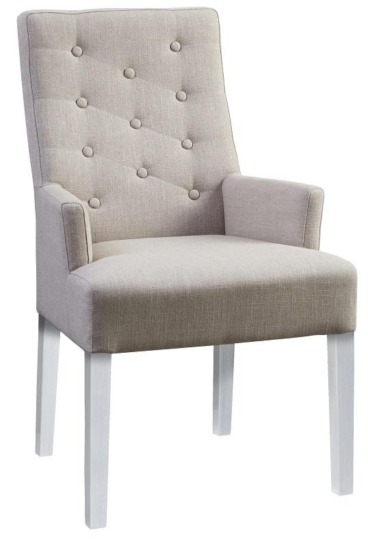 Canett – Birdie spisebordsstol m. armlæn - beige stof på unoliving.com