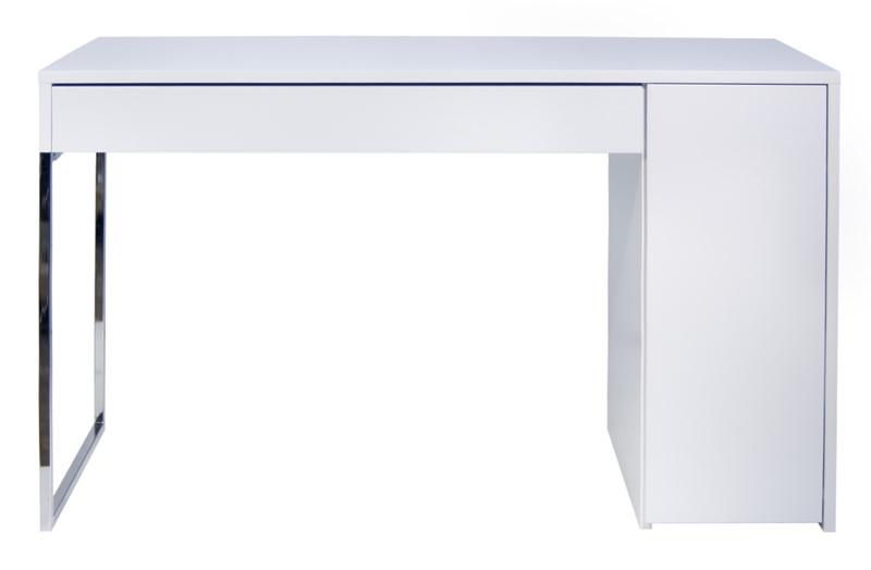 Temahome Temahome - prado skrivebord - hvid m/krom ben på unoliving.com