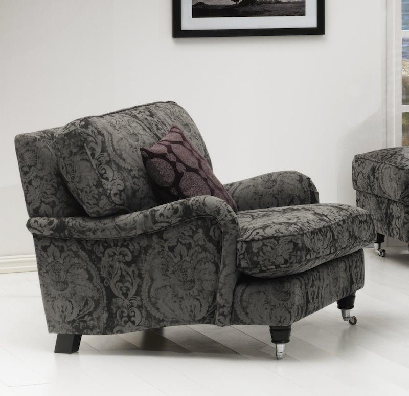 Lancaster lænestol - grå stof fra N/A på unoliving.com