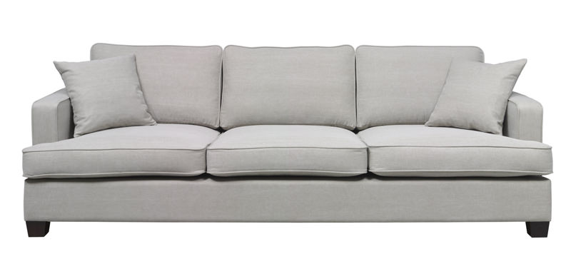 Shelby 3-pers. sofa - beige stof fra N/A fra unoliving.com