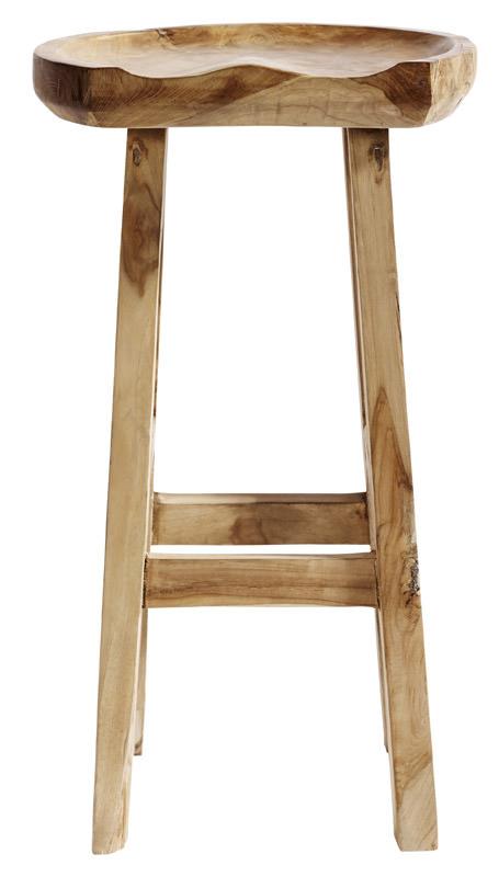 Muubs – Muubs - oval barstol - teakrod og genbrugs teak fra unoliving.com