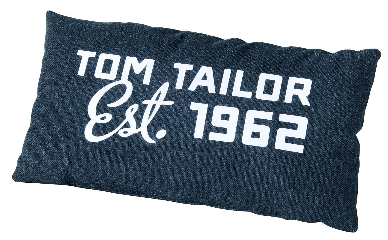 Tom tailor – Elements pude med print - petroleum på unoliving.com