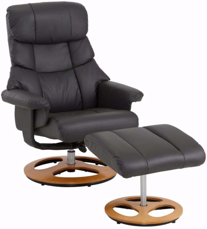 Tony hvilestol med skammel gråsort pu fra N/A fra unoliving.com