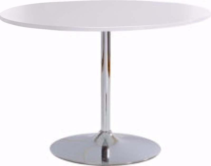 Terri spisebord hvid højglans med krom fod fra N/A fra unoliving.com