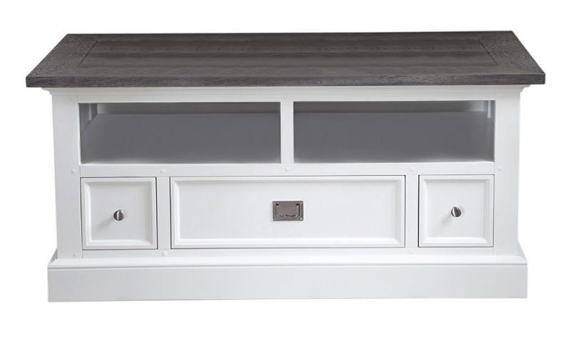 Canett – Hamptons tv-bord - hvid malet og ege finér på unoliving.com