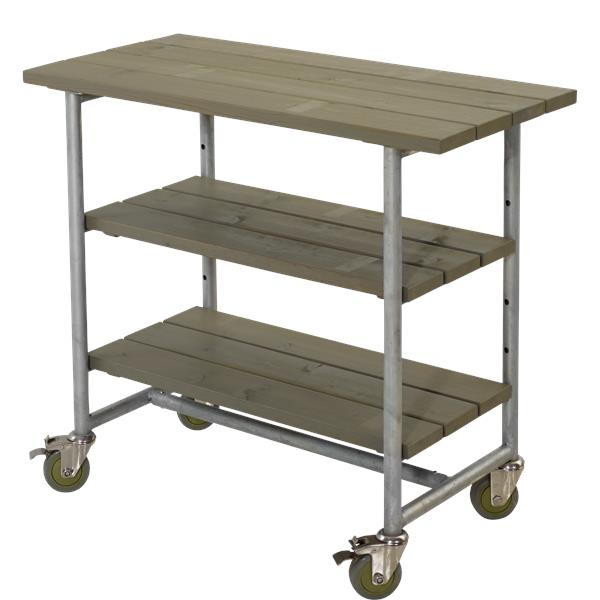 N/A Plus - urban grillbord m/2 hylder - gråbrun på unoliving.com