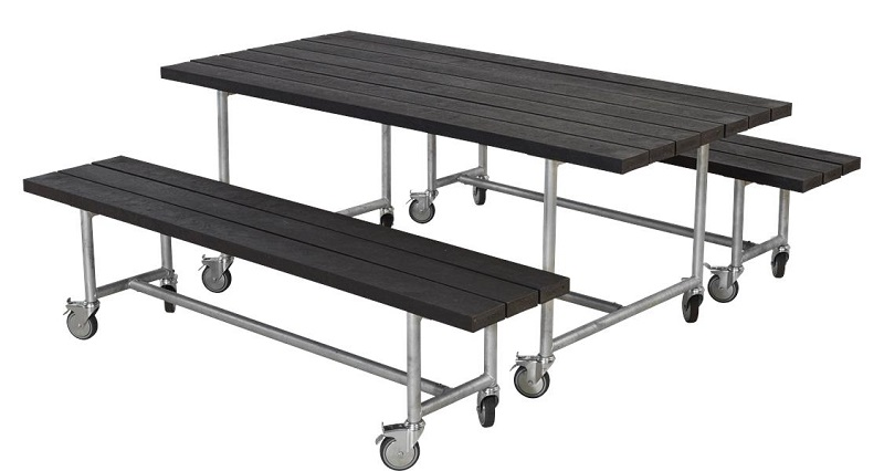 Plus - urban picnic plankesæt - sort fra N/A fra unoliving.com