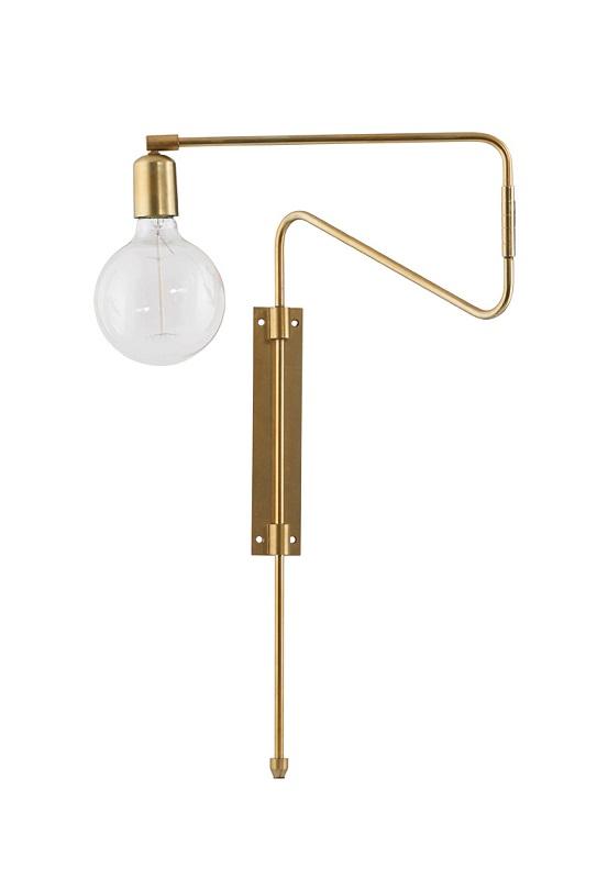 House doctor House doctor swing væglampe - messing på unoliving.com