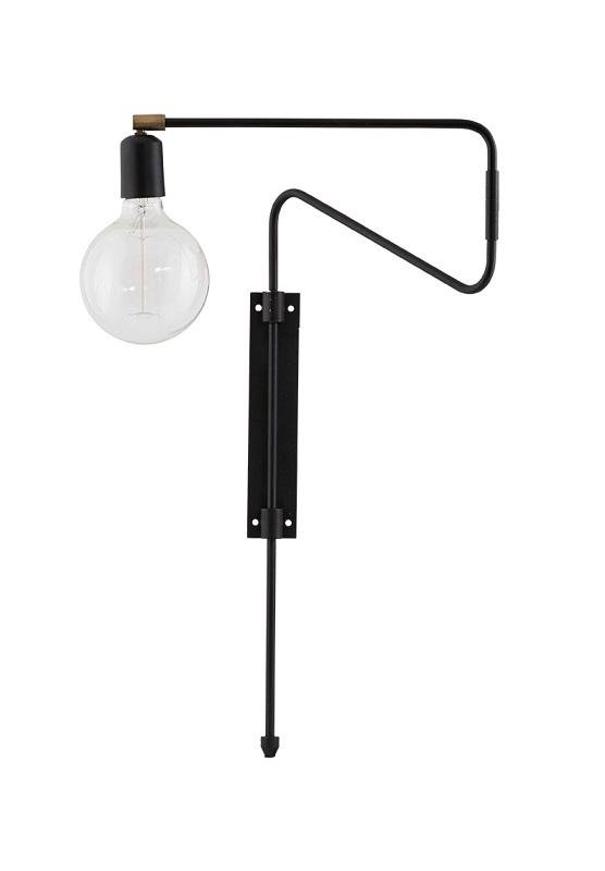 House doctor House doctor swing væglampe - sort fra unoliving.com