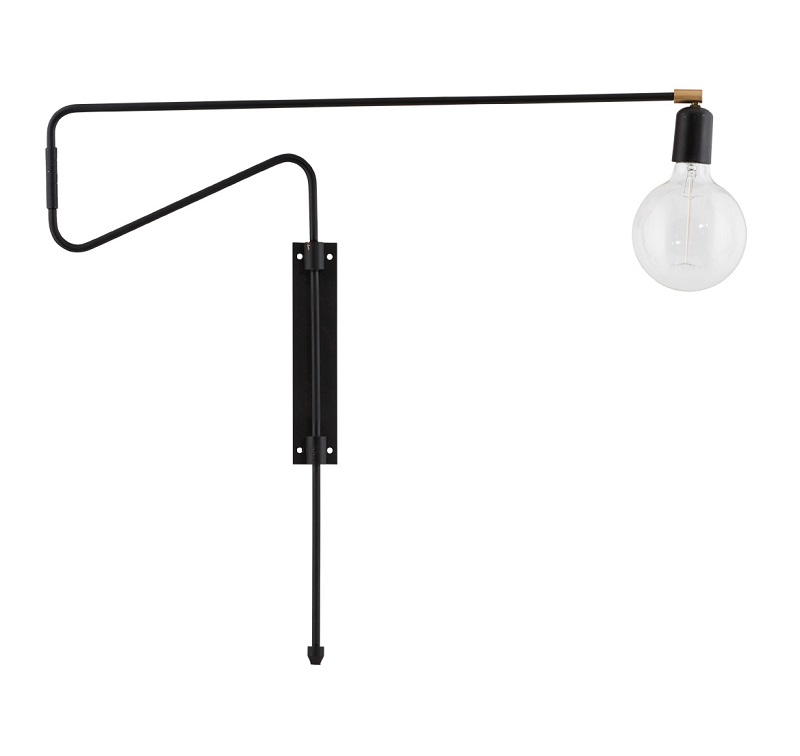 House doctor House doctor swing væglampe - sort på unoliving.com