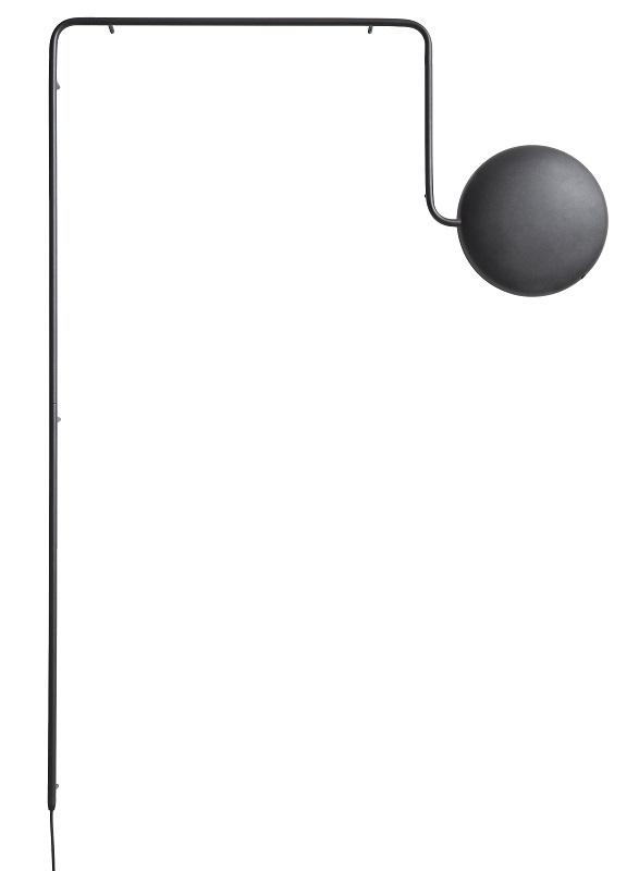 Woud – Woud - mercury væglampe - sort på unoliving.com