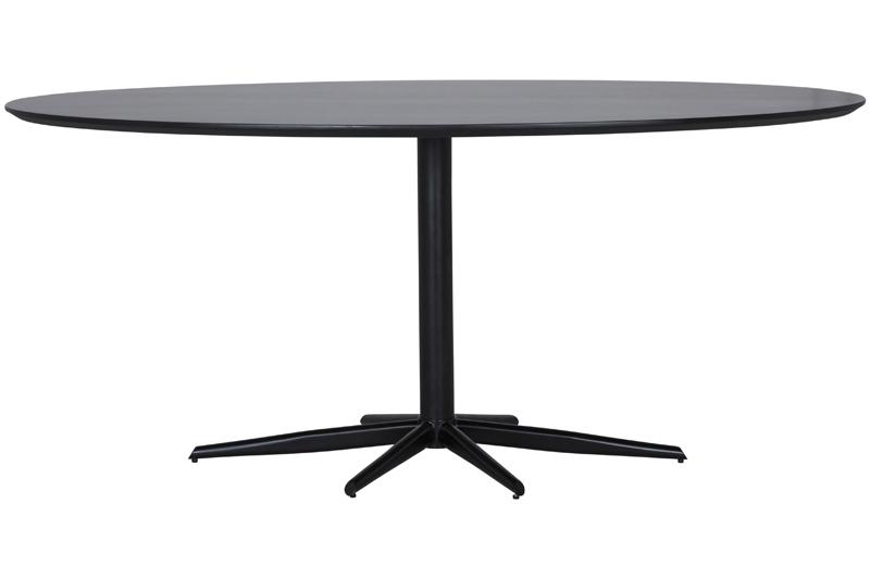 Oval Spisebord. Cool Ovalt Spisebord Af Hvid Laminat P Dobbelt ...