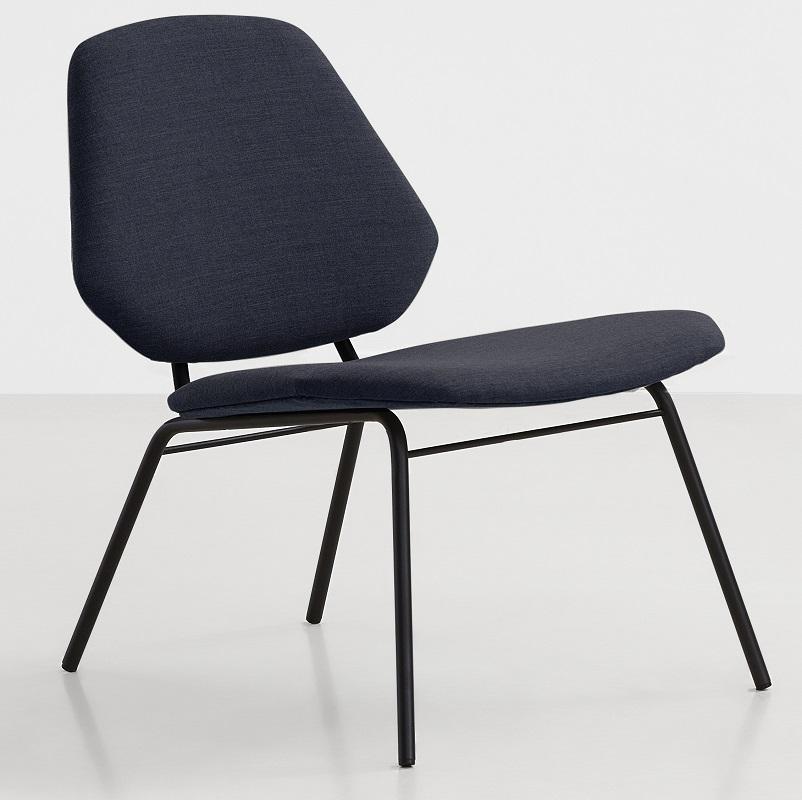 Woud Woud - lean loungestol - blå polster fra unoliving.com