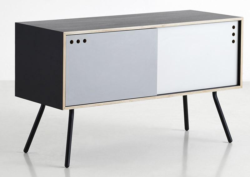 Woud – Woud - geyma skænk - sort finer kabinet fra unoliving.com