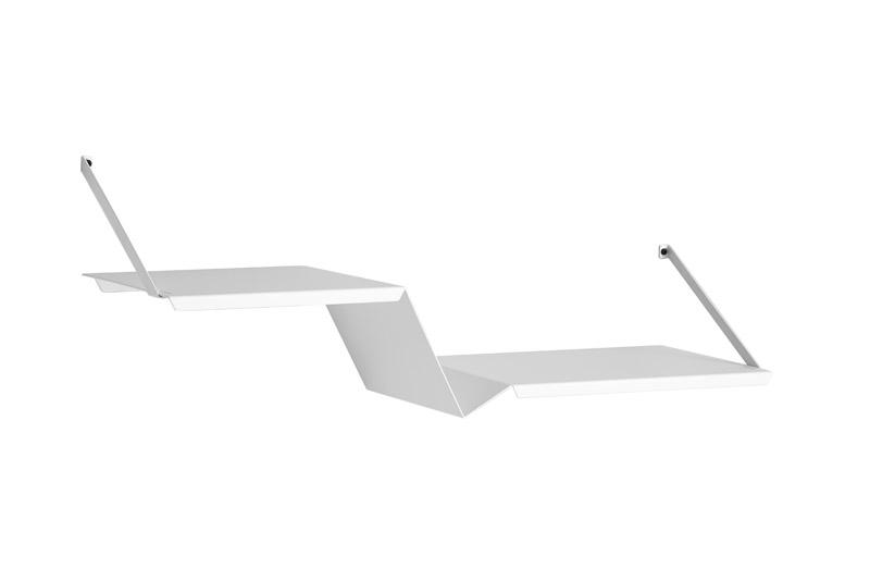 Woud – Woud - fold hylde - hvid metal fra unoliving.com