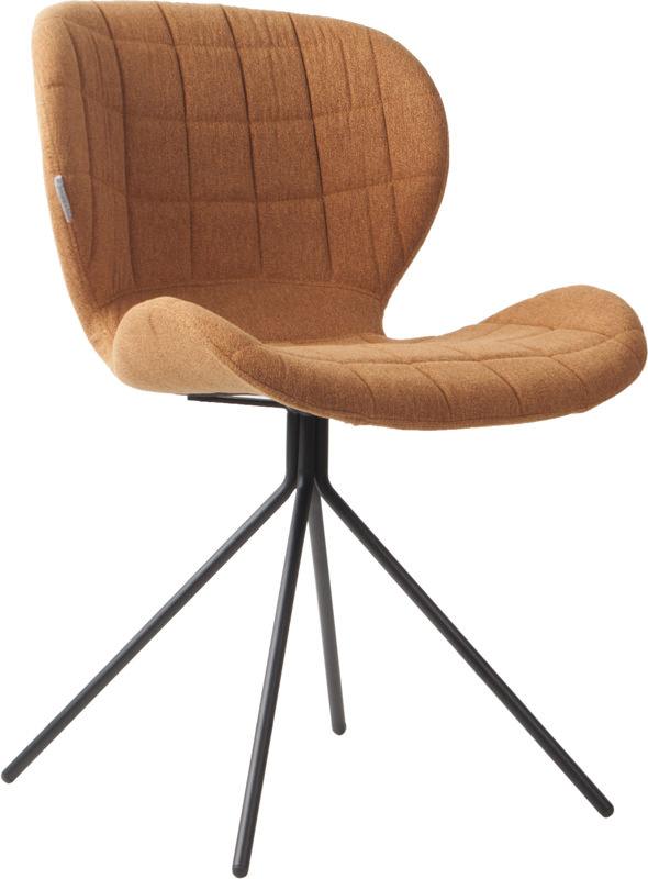 Zuiver Zuiver - omg spisebordsstol - brun stof på unoliving.com