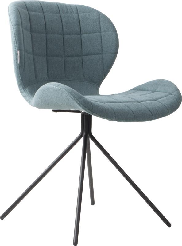 Zuiver Zuiver - omg spisebordsstol - blå stof på unoliving.com