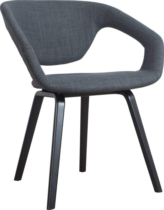 Zuiver – Zuiver - flex back spisebordsstol, grå m. sort ben på unoliving.com