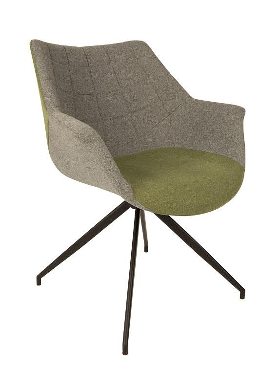 Zuiver - doulton spisebordsstol - grøn fra Zuiver på unoliving.com