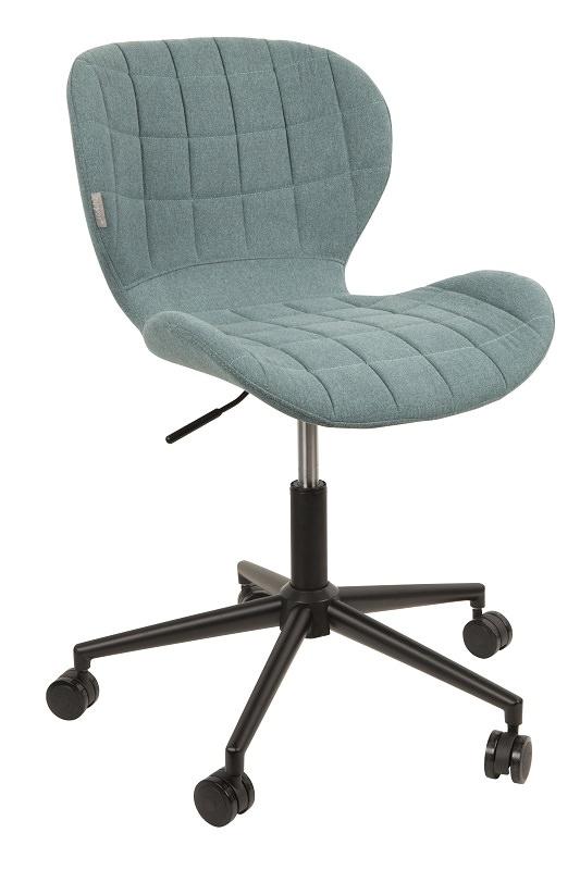 Zuiver - omg kontorstol - blå stof fra Zuiver fra unoliving.com