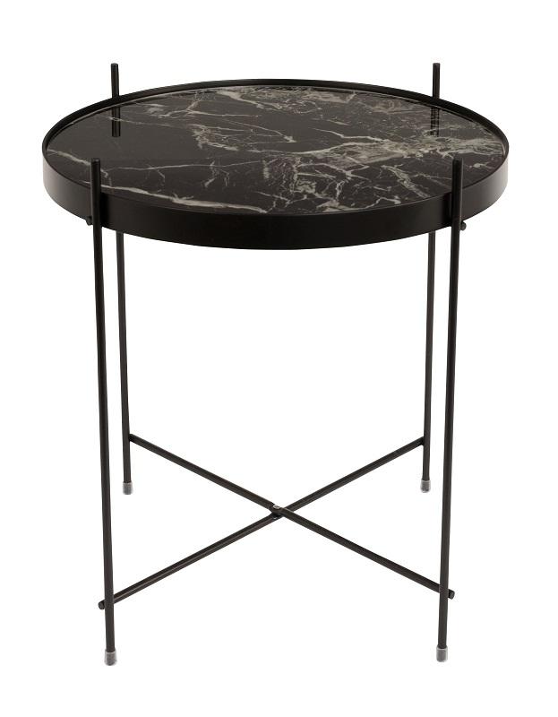 Zuiver Zuiver - cupid sidebord - sort marmor-look- ø43 på unoliving.com