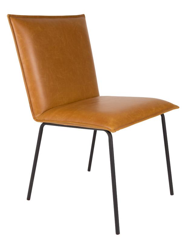 N/A Homii spisebordsstol - brun pu læder på unoliving.com